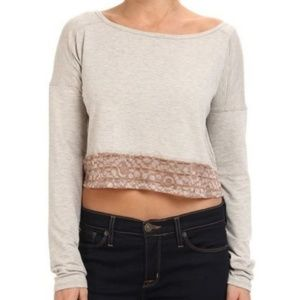 NWT!! Lole Anada cropped long sleeve top